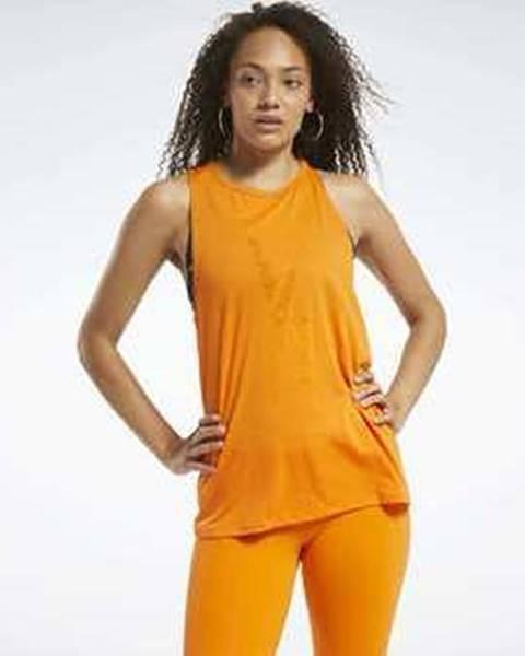 Oranžový top Reebok Sport