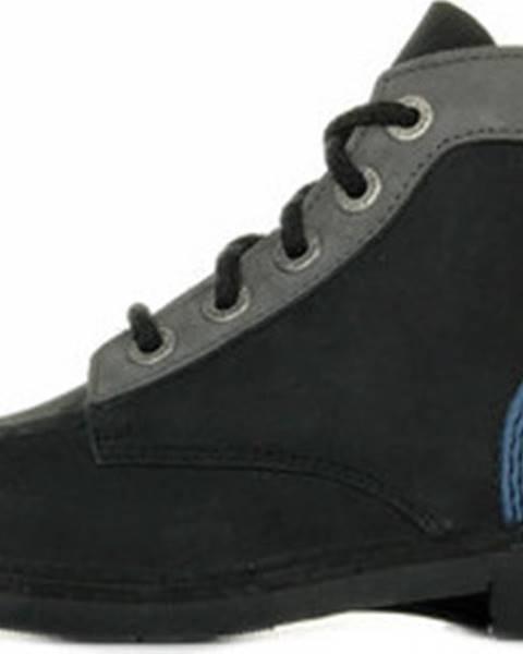 Černé boty Kickers