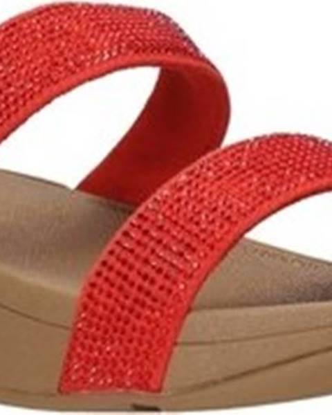 Červené pantofle FitFlop