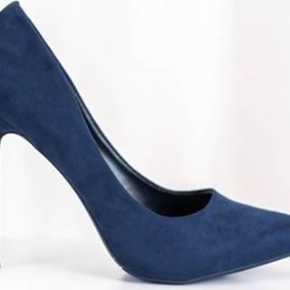 Small Swan Lodičky Trendy lodičky dámské modré na jehlovém podpatku ruznobarevne