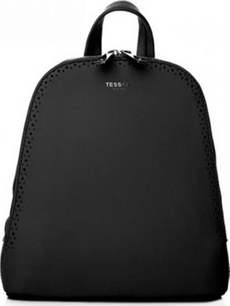 Tessra Batohy Černý dámský batůžek / kabelka se dvěma oddíly ruznobarevne