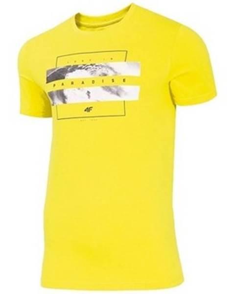 Žluté tričko 4F