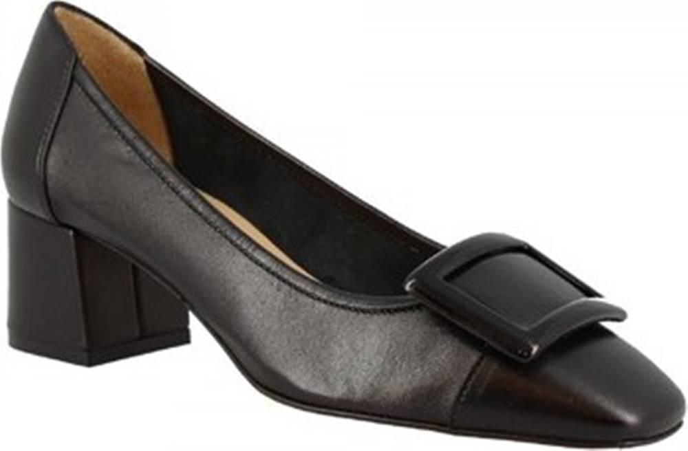 Leonardo Shoes Lodičky 1331 NAPPA NERA Černá