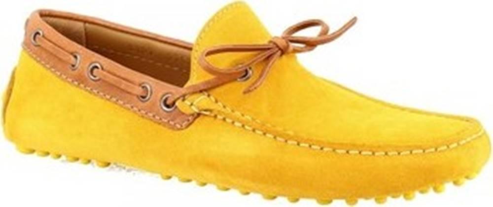 Leonardo Shoes Mokasíny 8187AF SOFTY TOPAZIO Žlutá