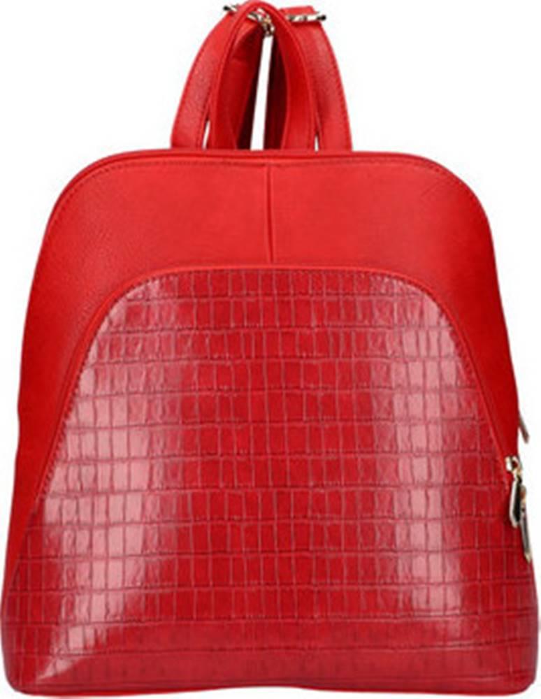Am Montreux Batohy Červený dámský módní batůžek v kroko designu AM0106 ruznobarevne