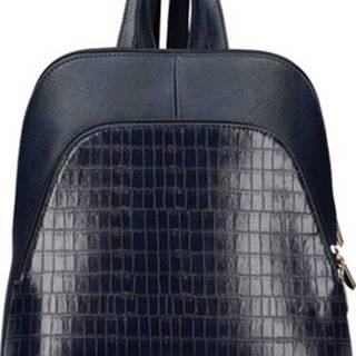 Batohy Tmavě modrý dámský módní batůžek v kroko designu AM0106 ruznobarevne