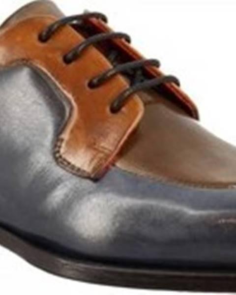 Modré polobotky Leonardo Shoes