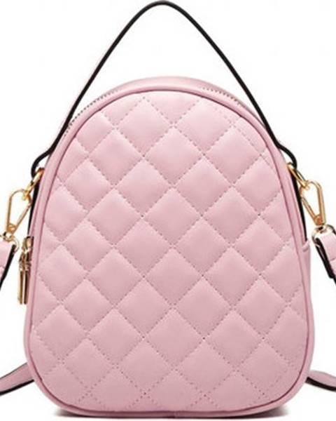 Růžová kabelka Lulu Bags (Anglie)