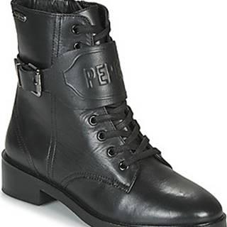 Pepe jeans Kotníkové boty MALDON LOGO Černá