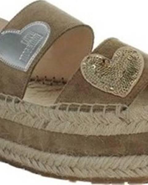 Béžové sandály Love Moschino