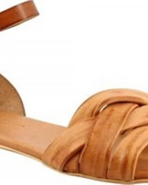 Hnědé sandály Leonardo Shoes