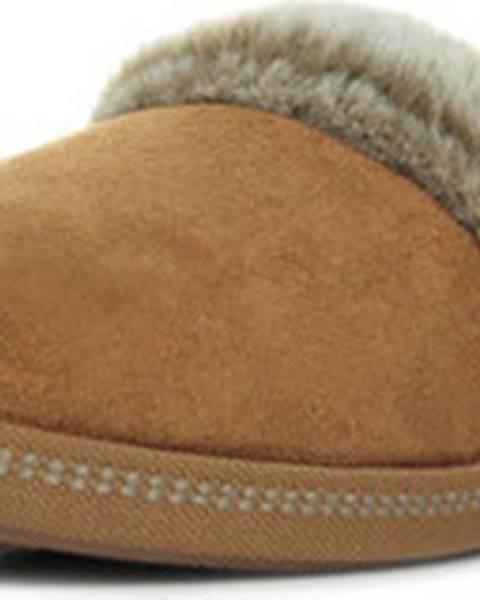 Hnědé domácí boty Skechers