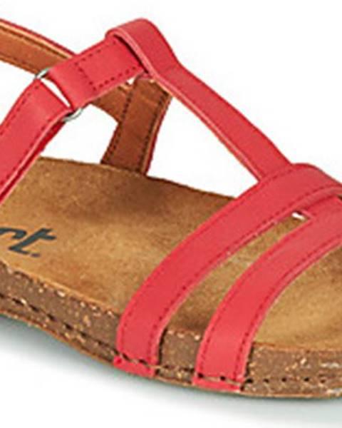 Červené sandály ART