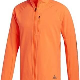 adidas Teplákové bundy Bunda Rise Up N Run Oranžová