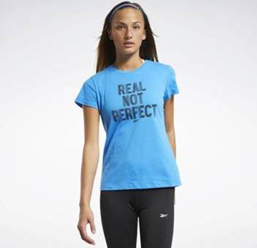 Reebok Sport Trička s krátkým rukávem Training Essentials Graphic T-Shirt Modrá