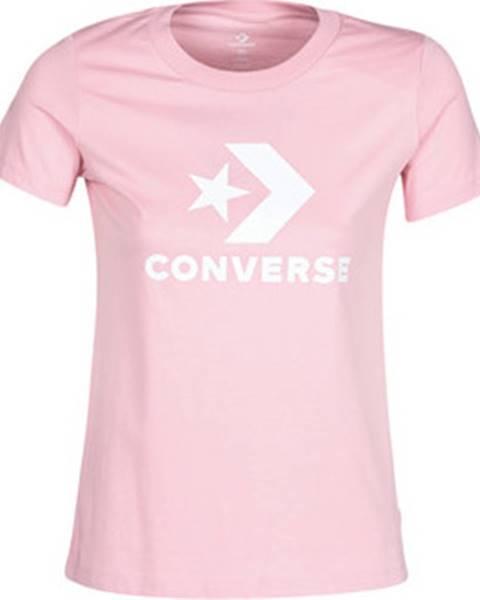 Růžový top converse