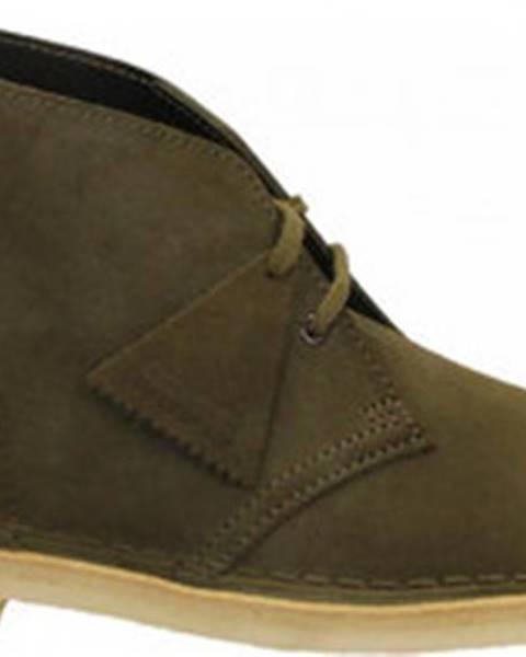 Zelené boty Clarks