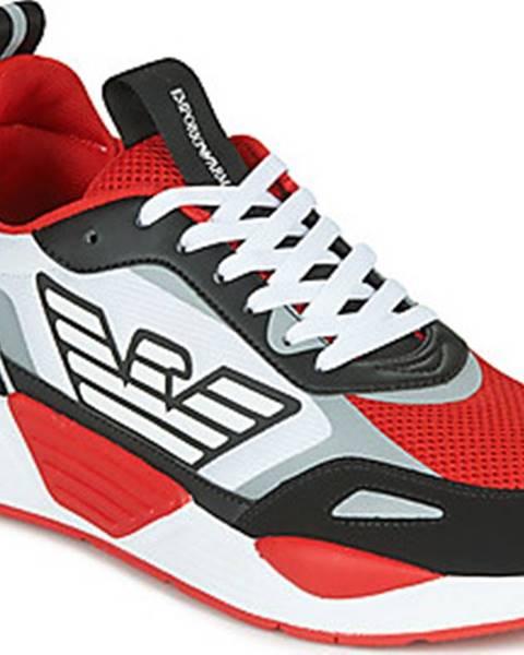 Červené tenisky Emporio Armani
