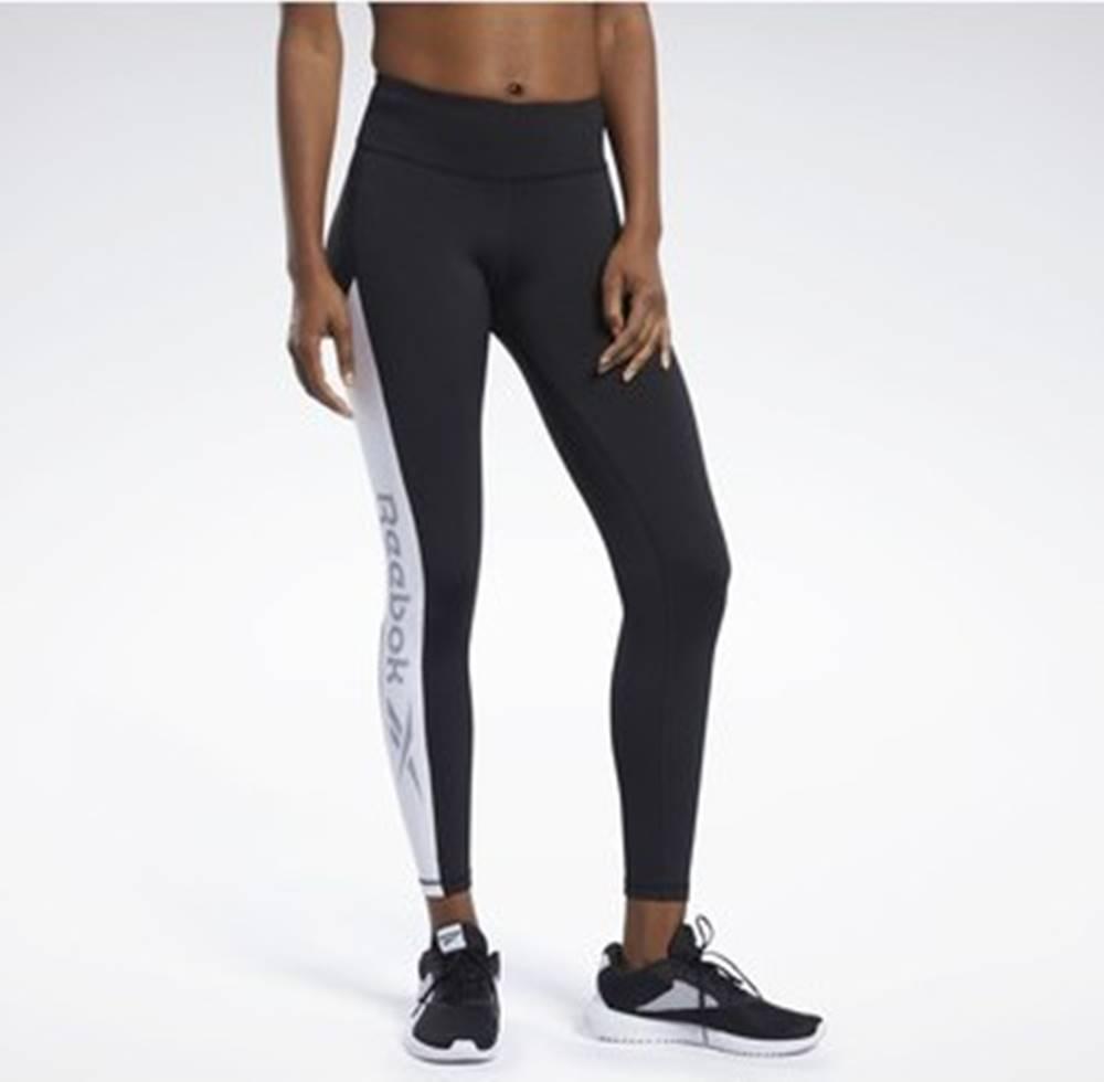 Reebok Sport Legíny / Punčochové kalhoty Workout Ready Logo Tights Černá