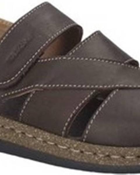 Hnědé sandály Susimoda