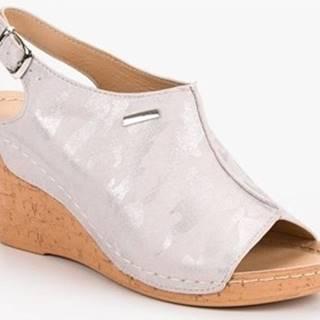 Filippo Sandály Moderní dámské růžové sandály na klínku ruznobarevne