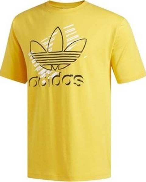 Žluté tričko adidas