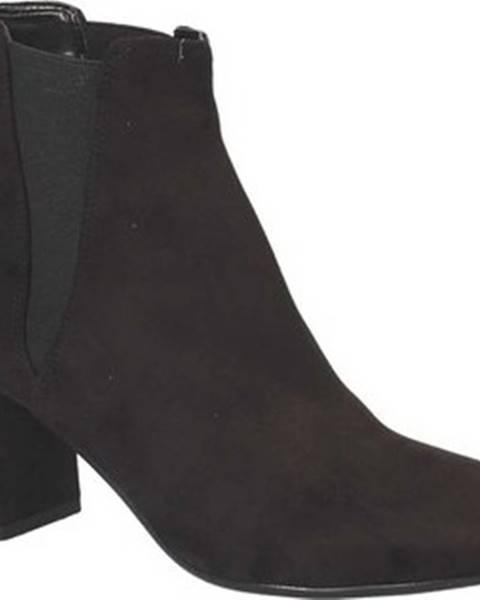Černé kozačky Grace Shoes