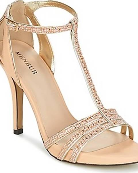 Zlaté sandály Menbur