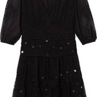 Krátké šaty 19WWVW32 Černá