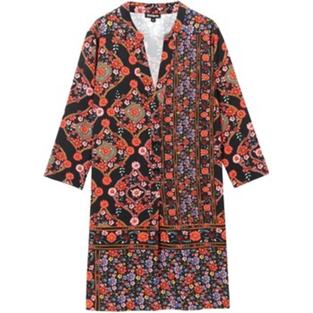 desigual Krátké šaty 19WWVW94 Černá