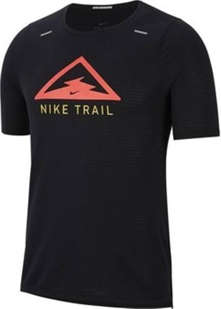 nike Trička s krátkým rukávem Rise 365 Top Trail M Černá