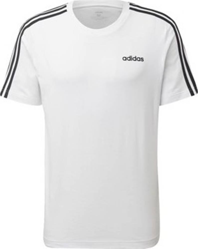 adidas adidas Trička s krátkým rukávem Tričko Essentials 3-Stripes Bílá