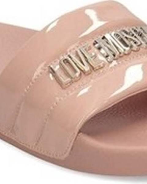 Růžové pantofle Love Moschino