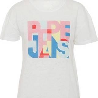 Pepe jeans Trička s krátkým rukávem PL504439 Bílá