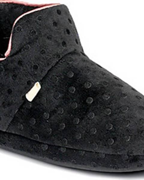 Černé domácí boty DIM