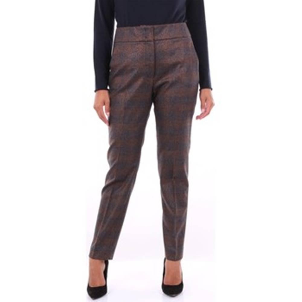 Peserico Oblekové kalhoty P0464706596 Hnědá