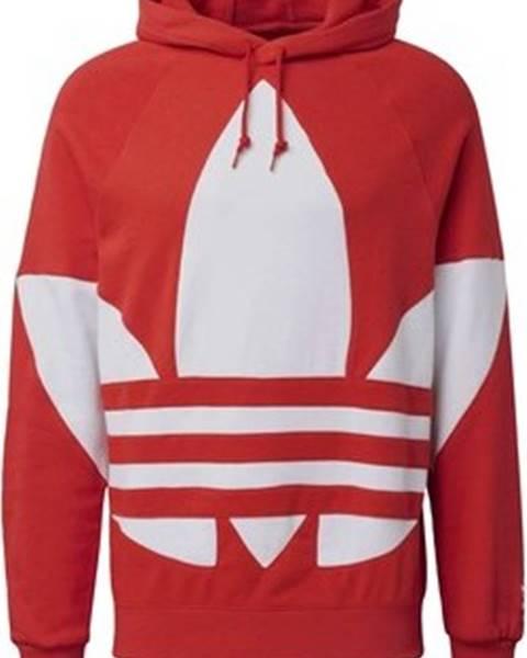 Červená mikina adidas
