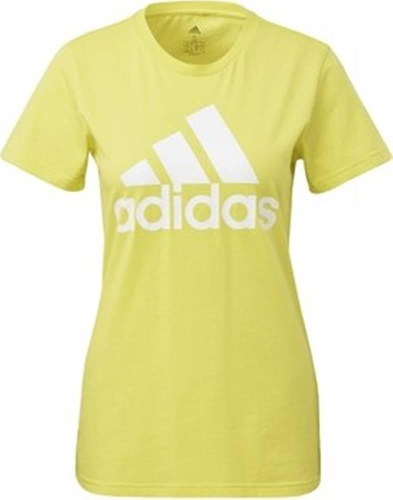 adidas adidas Trička s krátkým rukávem Tričko Must Haves Badge of Sport Žlutá