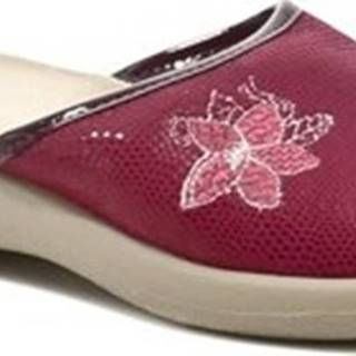 Dřeváky 442D188 bordó dámské papuče Other