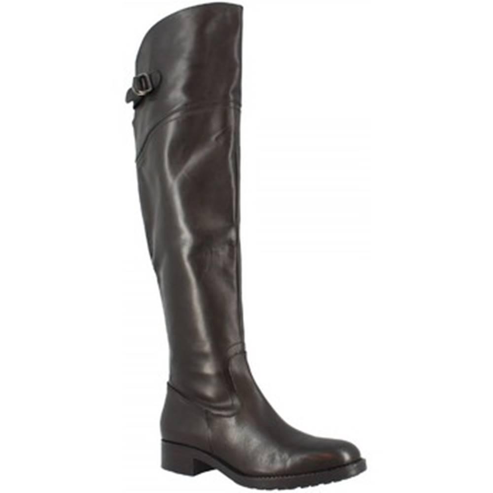 Leonardo Shoes Vysoké kozačky nad kolena D06590LIA6. QUO01 QUERO NERO Černá