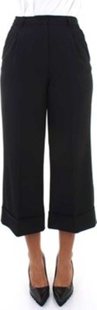 MANILA GRACE Manila Grace Ležérní kalhoty P141PU Černá