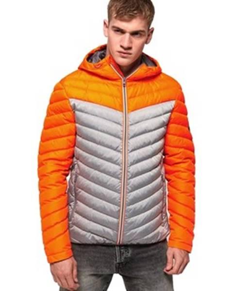 Oranžová bunda superdry