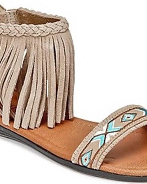 Béžové sandály Minnetonka