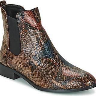 Kotníkové boty - Hnědá