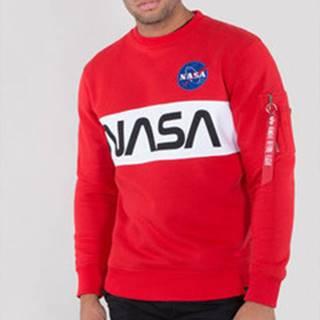 Mikiny Nasa inlay sweater Červená
