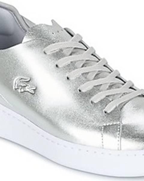 Stříbrné tenisky lacoste