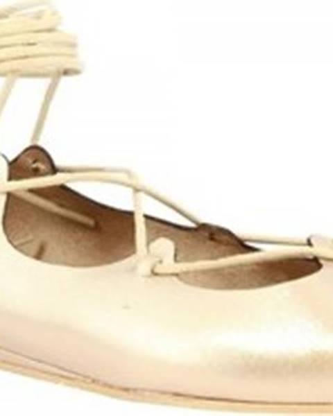 Růžové baleríny Leonardo Shoes