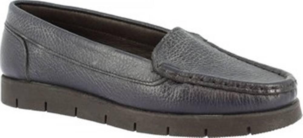 Leonardo Shoes Mokasíny 2838 VITELLO BLEU Modrá