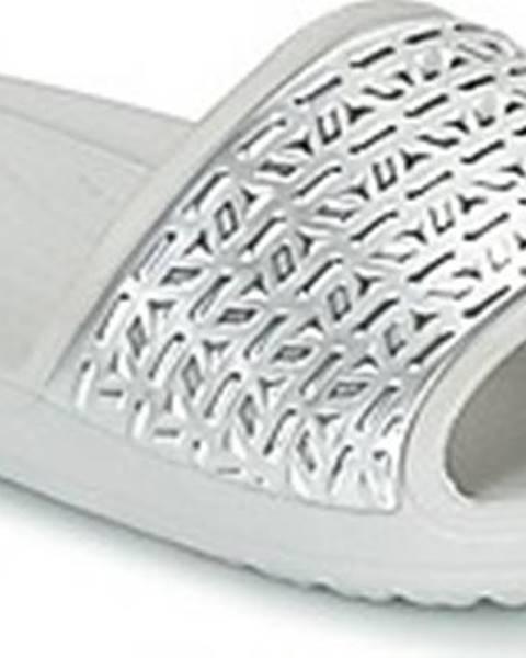 Stříbrné pantofle crocs