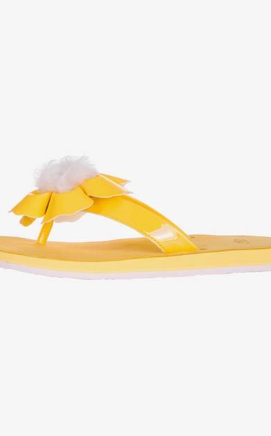Žluté pantofle ugg